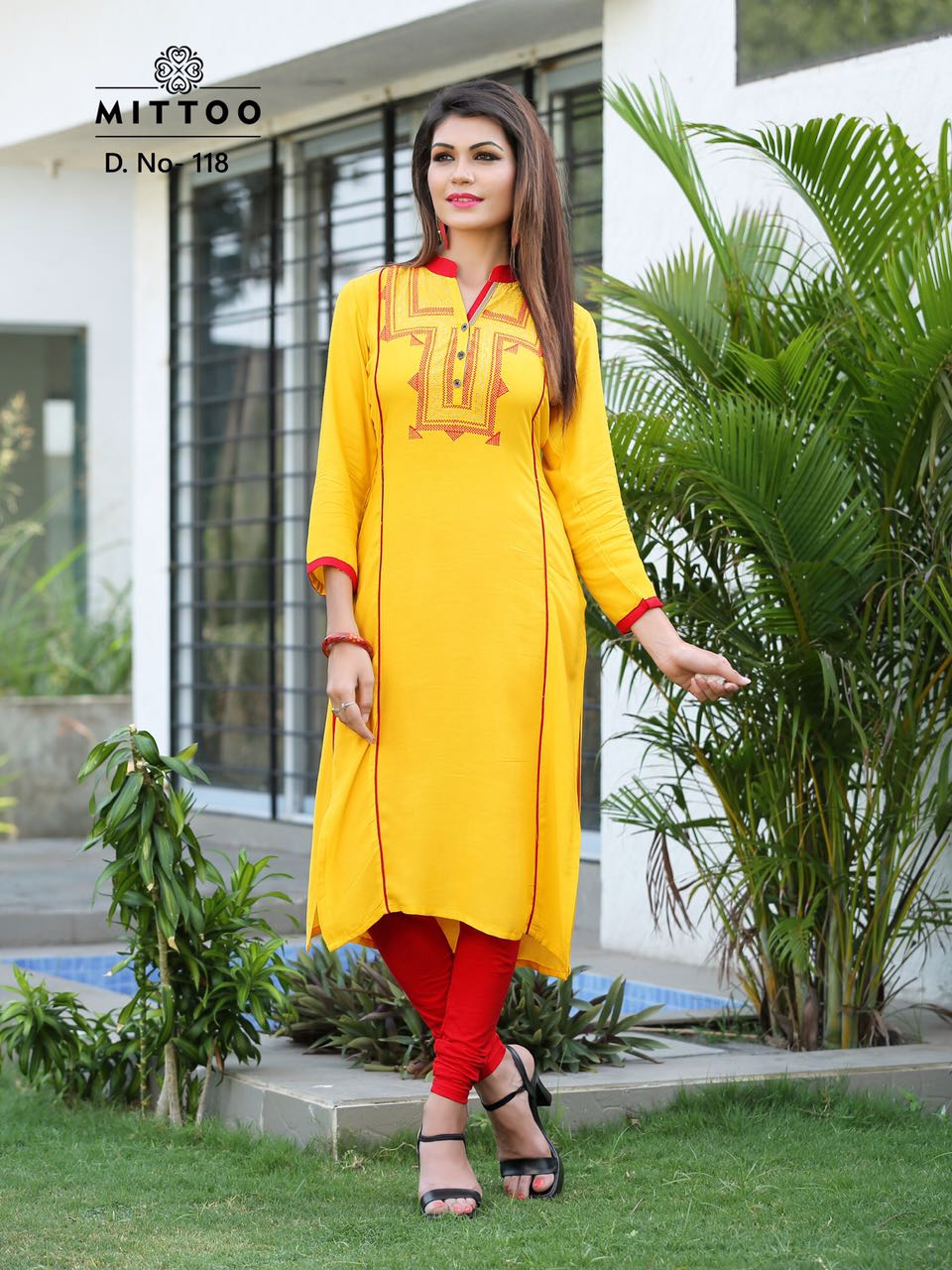 97a9e97829 Mittoo panchhi vol 3 designer Rayon Embroidery Kurtis dispatch from 12th  sep.